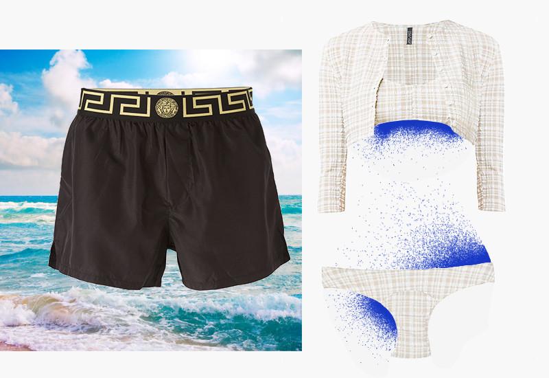 Плавки, Versace |Купальник, Lisa Marie Fernandez