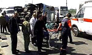 Под Иркутском опрокинулся автобус, везший 65 человек