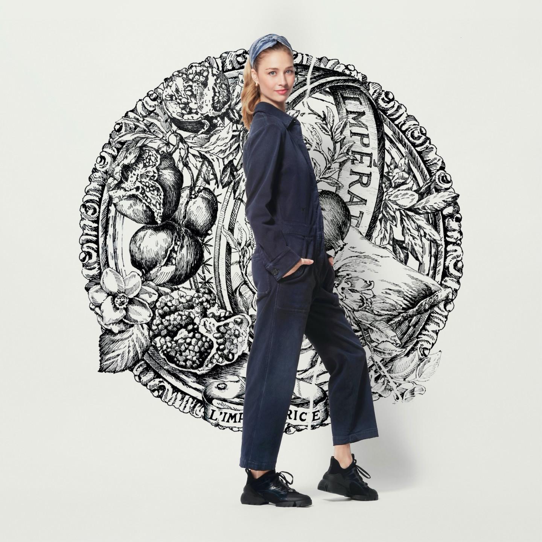 Беатриче Борромео-Казираги перед показом Dior Couture, весна-лето 2021