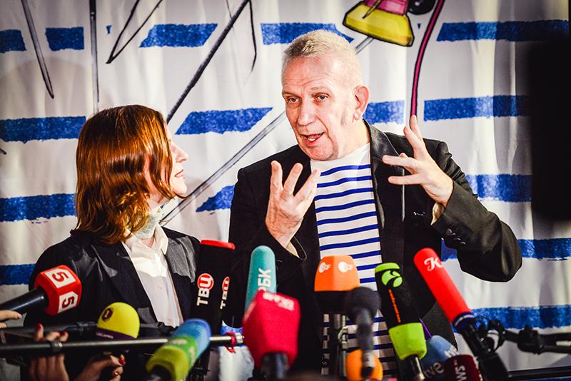 Жан-Поль Готье на премьере Fashion Freak Show,Москва, 6 февраля