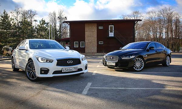 Маршрут с учетом ям. Jaguar XE против Infiniti Q50