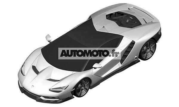 Дизайн Lamborghini Centenario рассекретили до премьеры