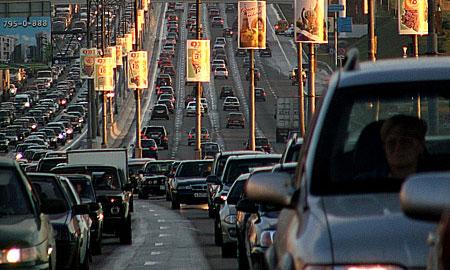 Открытие автошоу в Москве вызвало серьезные пробки