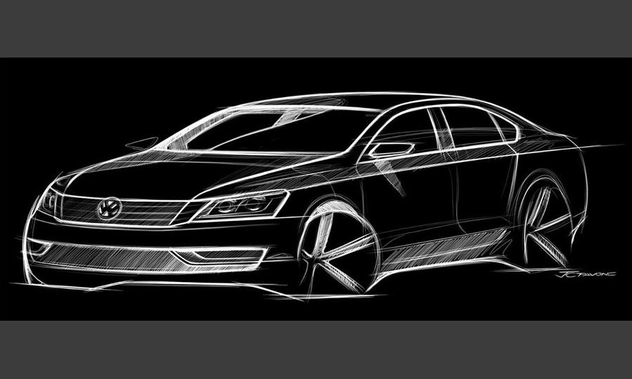 Volkswagen показал первый скетч совершенно новой модели