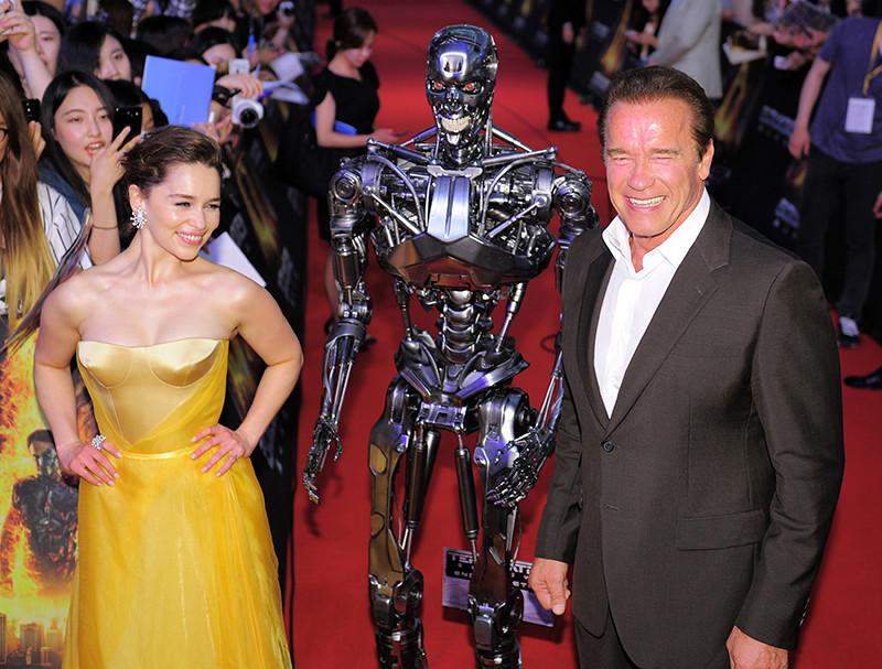 С Арнольдом Шварценеггером на премьере «Терминатор: Генезис» в Сеуле, 2015