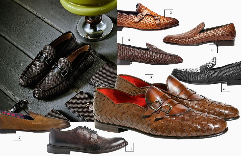 На существовавшее раньше предубеждение — плетеную из полосок кожи обувь можно носить только на курорте — теперь не стоит обращать внимания. Современную обувь подобного типа и элегантного внешнего вида можно, к примеру, надеть также в офис в casual Friday.  1 | Ermenegildo Zegna 2 | Santoni 3 | Giuseppe Zanotti 4 | Aldo Bruè 5 | Barrett 6 | Dolce & Gabbana  Носить ботинки с винтажным эффектом стоит только с неформальной одеждой.  7 | Doucal's 8 | Doucal's
