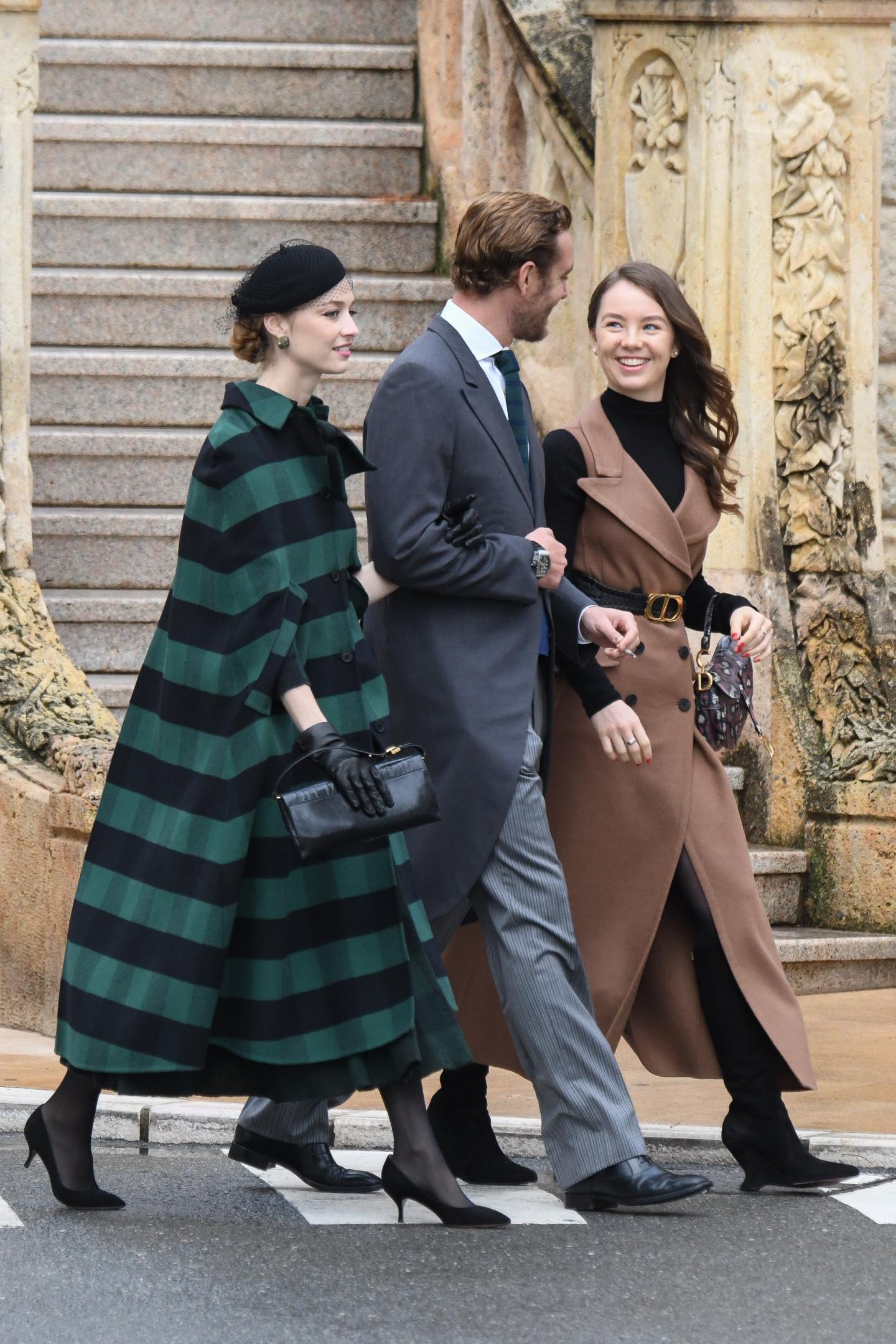 Беатриче Борромео-Казираги,Пьер Казираги и принцесса Александра Ганноверская во время празднования Национального дня Монако, 2019