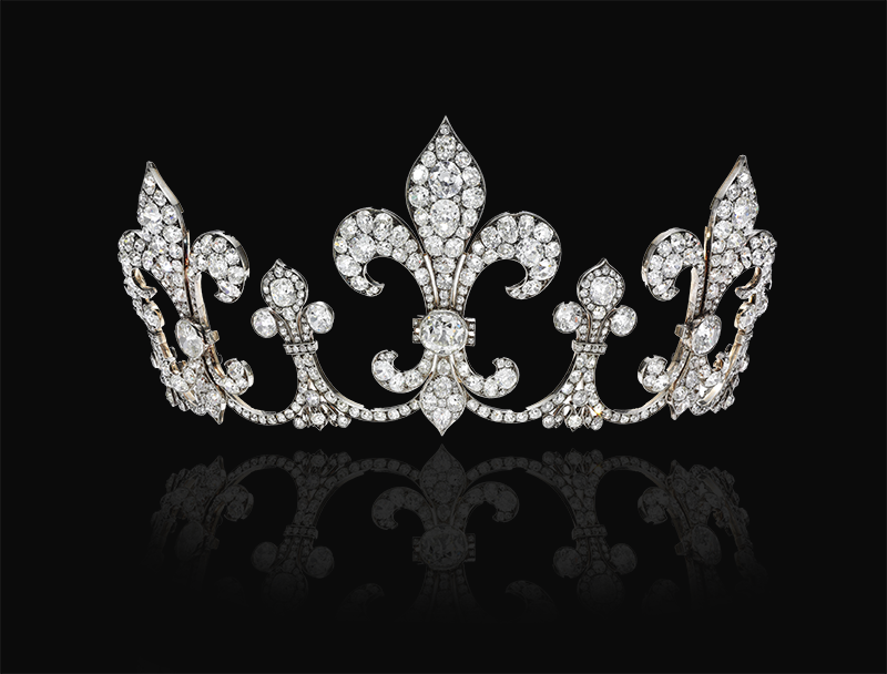 Бриллиантовая тиара с королевскими лилиями 1912 года