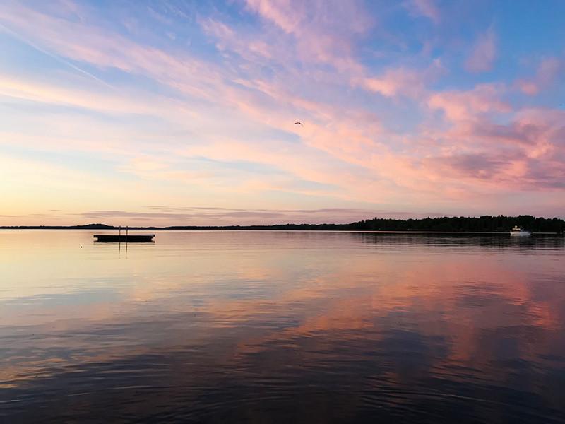 Закат на озере Мекельн