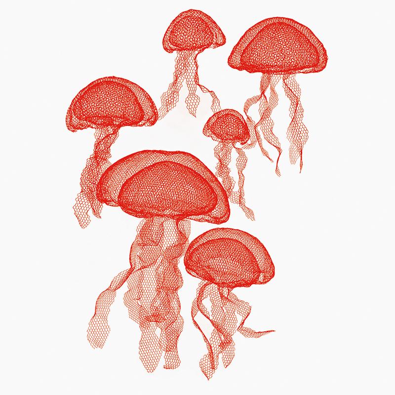 Подвесные скульптуры «Медузы», дизайнер Бенедетта Мори-Убалдини