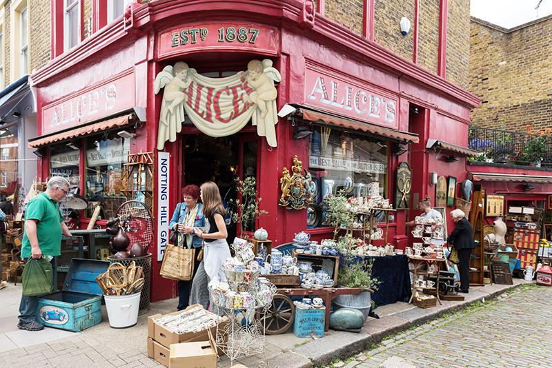 Блошиный рынок Портобелло-роуд, Лондон