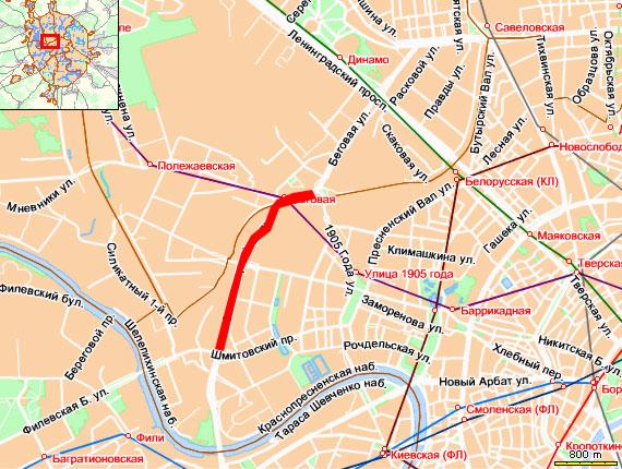 3 кольцо - от Шмитовского проезда до Беговой ул.