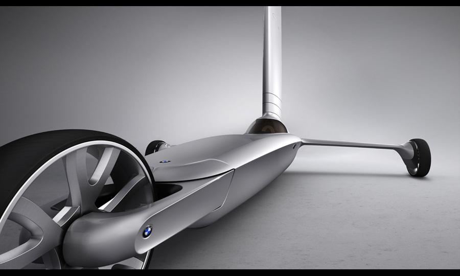 Болгарский дизайнер создал ветромобиль BMW Blue Dynamics