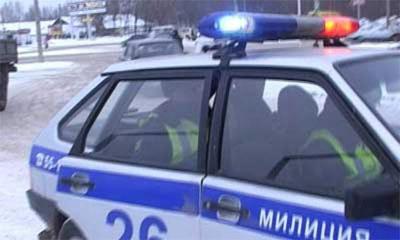 В Москве машина ДПС врезалась в ВАЗ, выехав на встречку