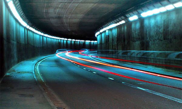 В тоннелях установят адаптивное освещение