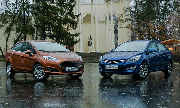 Тонкий лед. Ford Fiesta против Hyundai Solaris
