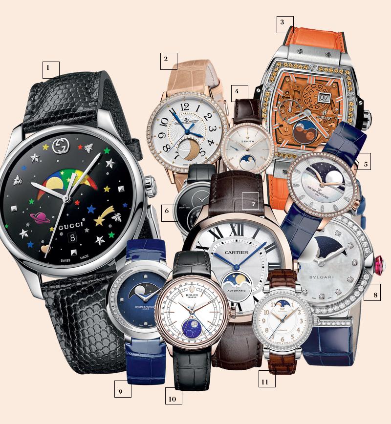 1 | Gucci; 2 | Jaeger-LeCoultre; 3 | Hublot; 4 | Zenith; 5 | Girard-Perregaux; 6 | Jaquet Droz; 7 | Cartier; 8 | Bulgari; 9 | Baume & Mercier; 10 | Rolex; 11 | IWC