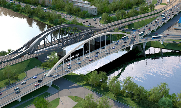Через Москву-реку построят новый автомобильный мост