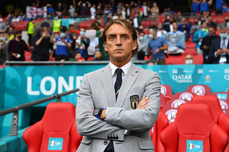 Роберто Манчини на матче 1/8 финала между Италией и Австрией, 26 июня