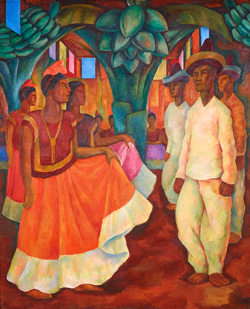Диего Ривера. «Танец в Теуантепеке», 1928