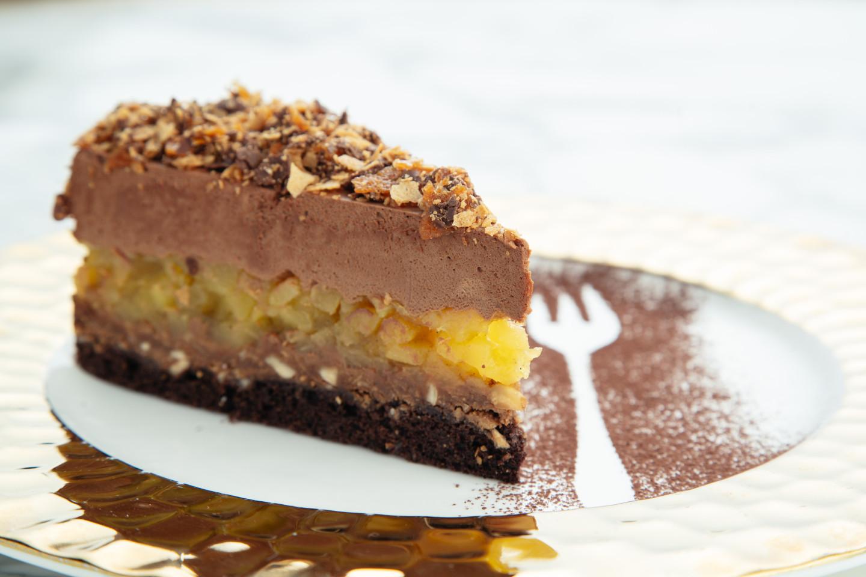 Шоколадный крустильян с грушей
