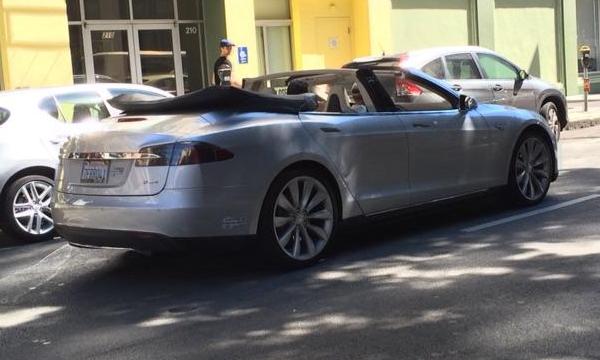 Седан Tesla Model S превратили в кабриолет
