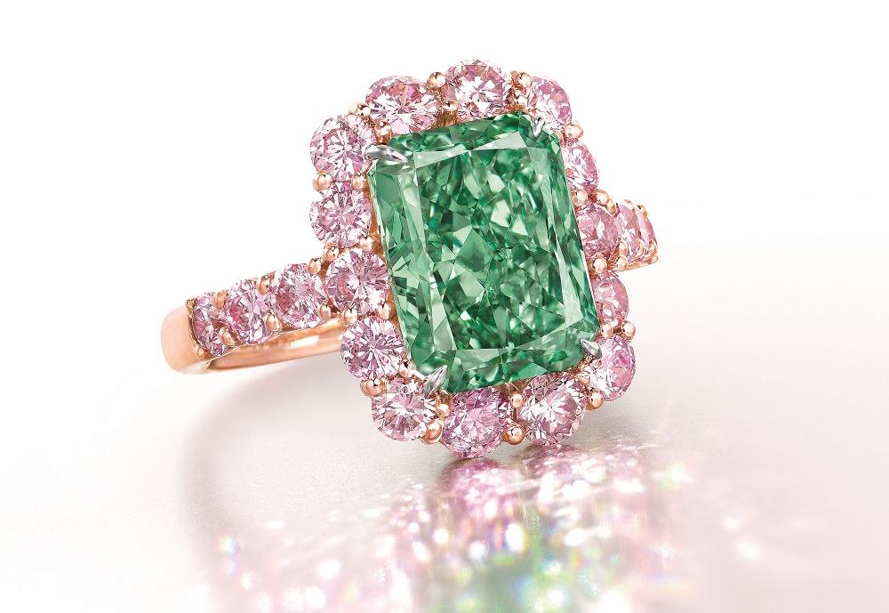 Кольцо с бриллиантом The Aurora Green