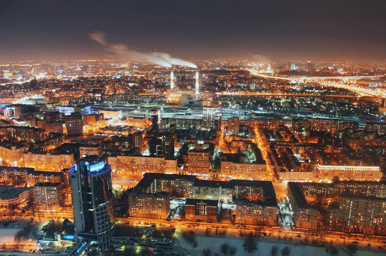 Вид на Москву с высоты