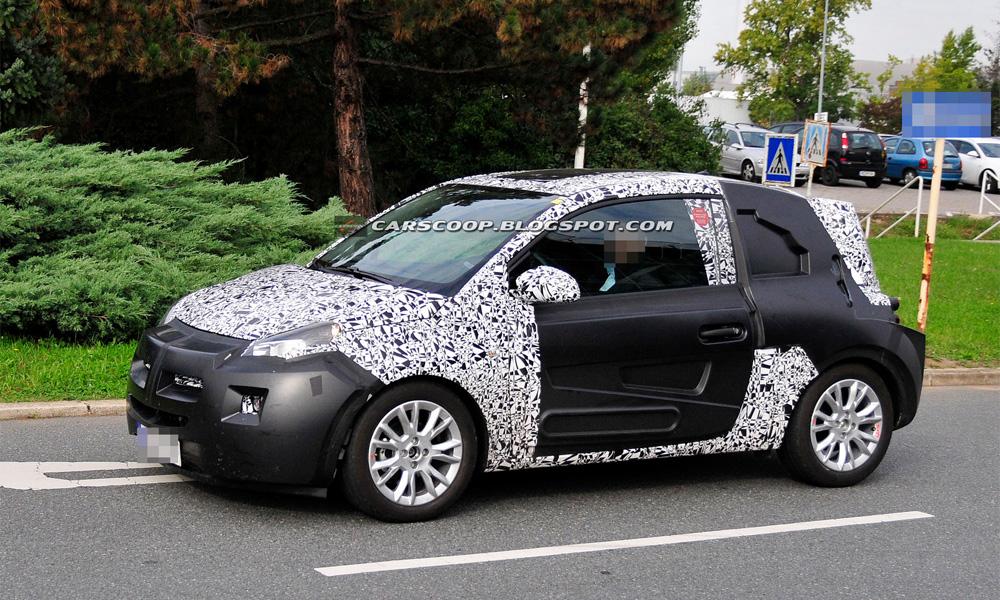 Opel Junior «напишет» свое серийное имя на улицах Франкфурта