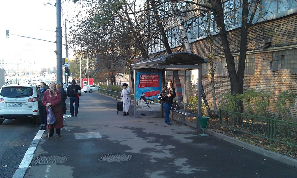 Автобусные остановки в Москве дискредитируют общественный транспорт