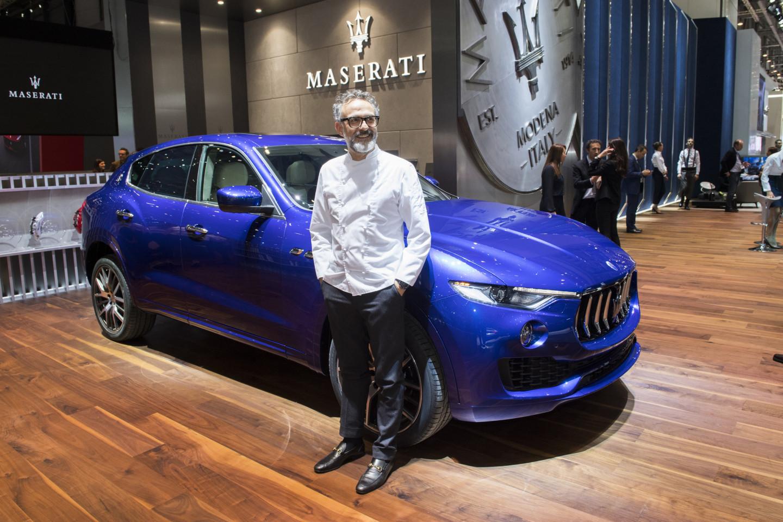 Массимо Боттура и внедорожник Maserati Levante