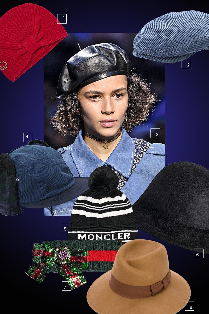 1) Fendi, 2) Loro Piana, 3) Dior, 4) Sacai, 5) Moncler, 6) Gucci, 7) Marc Jacobs, 8) Woolrich