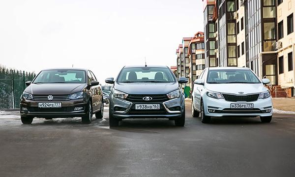 Контора пишет. Lada Vesta против Kia Rio и VW Polo