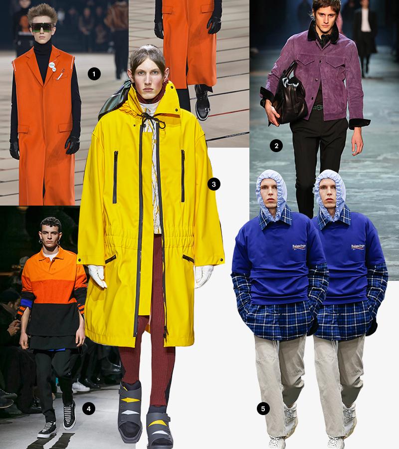 1 Dior Homme |2 Berluti | 3 Kenzo | 4 Givenchy | 5 Balenciaga