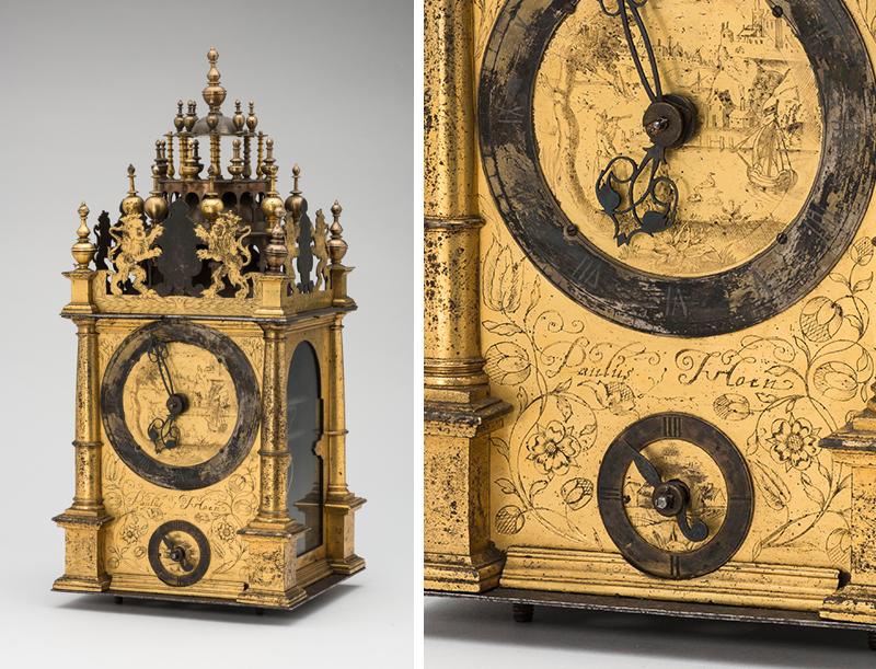 Часы настольные в виде башенки Польша, середина XVII в.
