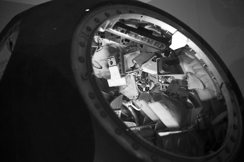 Внутри космического корабля«Восток»