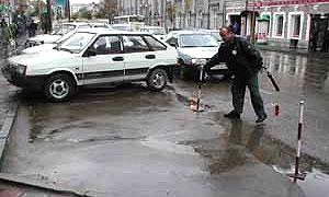 В Киеве могут разрешить платную парковку на тротуарах