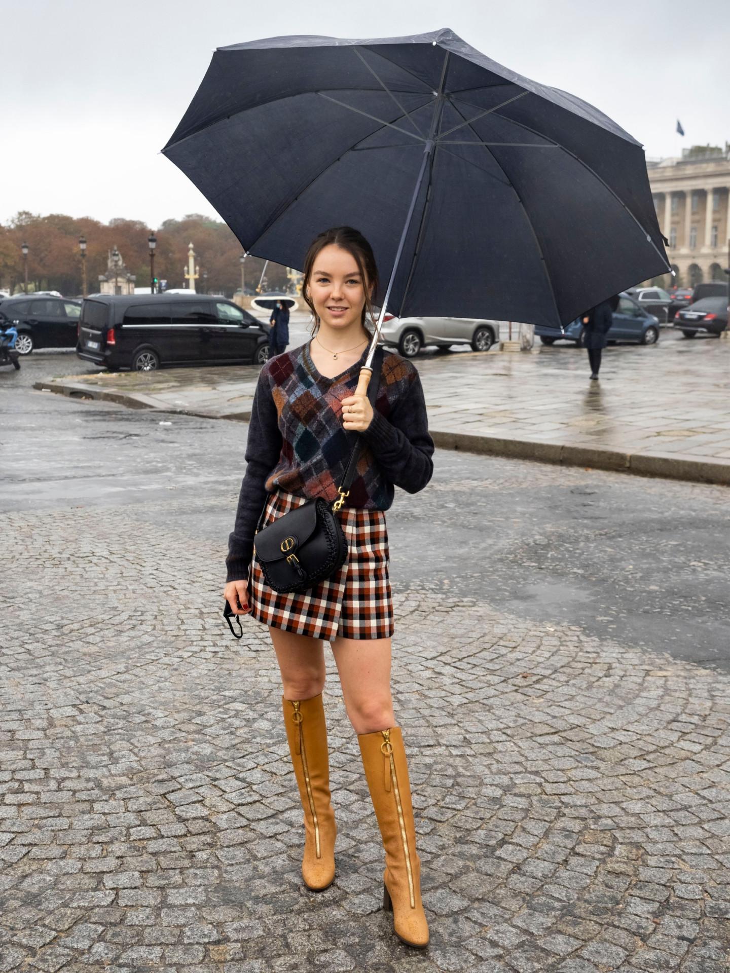 Принцесса Александра Ганноверская перед показом Dior сезона весна-лето 2021