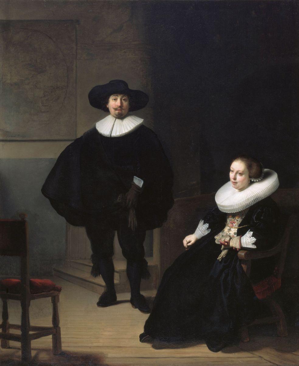 Рембрандт. «Мужчина и женщина в черном»