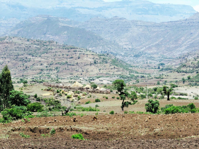 Вид на город Лалибэла, Эфиопия
