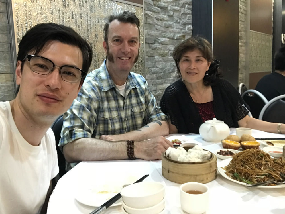 Алек Сигли с родителями