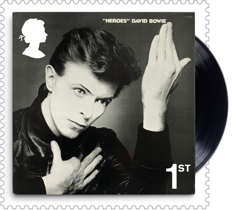 Марка с обложкой альбома Дэвида Боуи «Heroes»