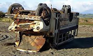 В результате аварии автобуса в Иране погибло 10 человек