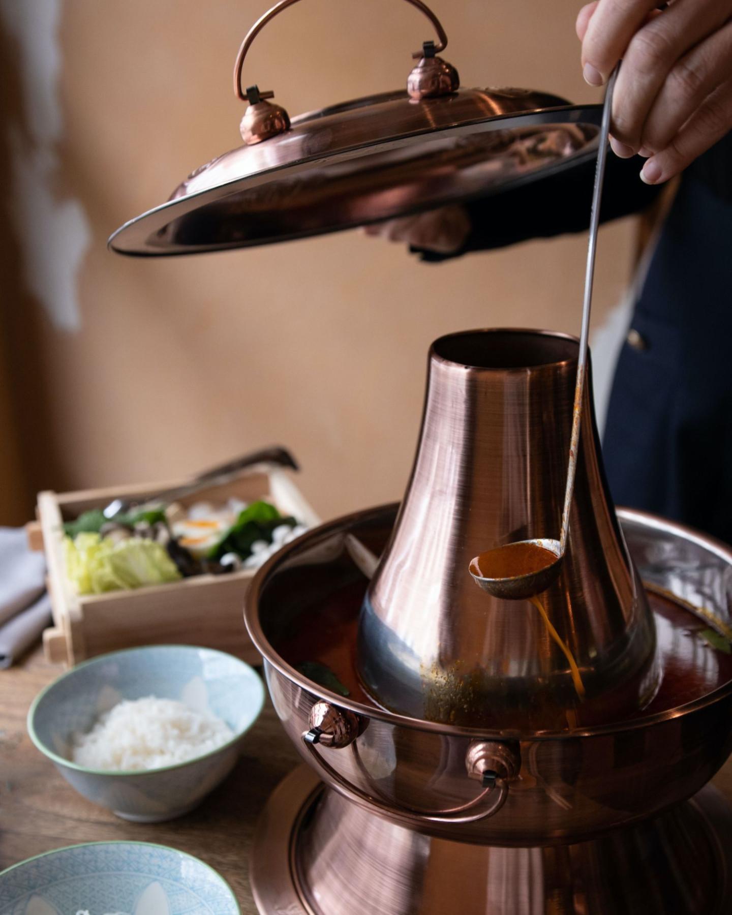 Самовар хого для приготовления супа