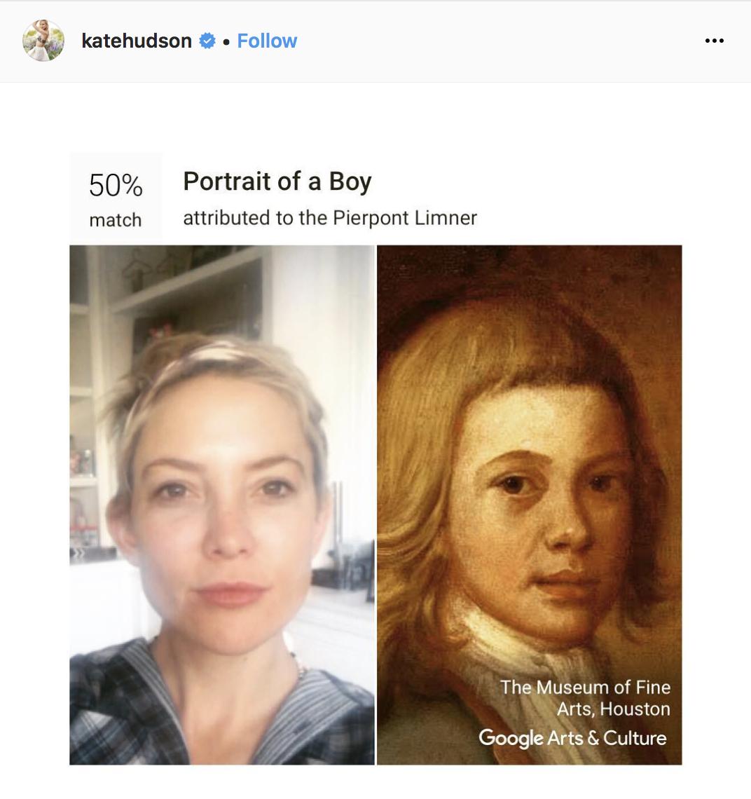 Кейт Хадсон — мальчик с портрета английского художника Пирпона Лимнера.