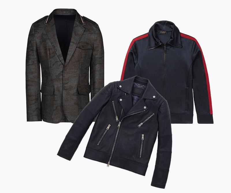 Блейзер Emporio Armani; Кардиган Burberry; Куртка-косуха Pal Zileri
