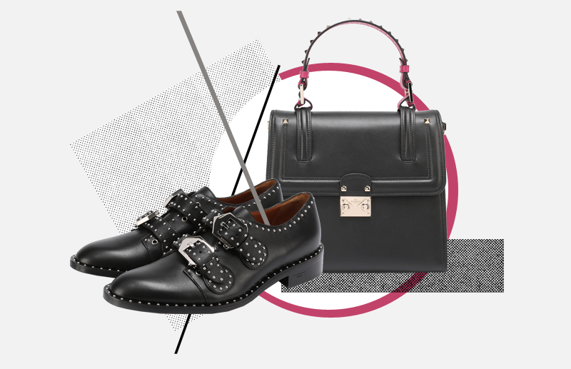 Ботинки, Givenchy, 53 950 руб.; сумка, Valentino, 119 500 руб.