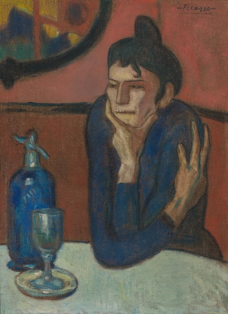 Пабло Пикассо. «Любительница абсента», 1901 (Из коллекции Государственного Эрмитажа)