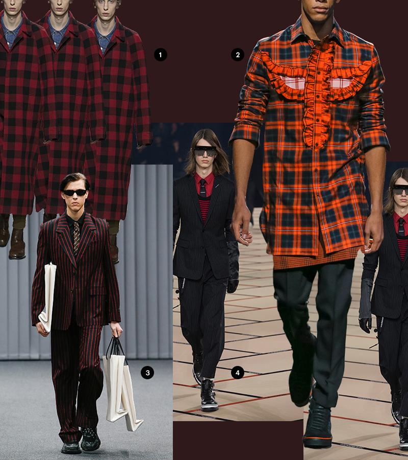 1 Dries van Noten | 2 Givenchy |3 Balenciaga |4 Dior Homme