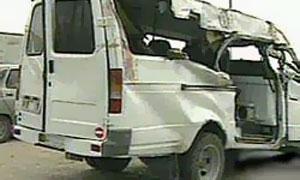 В Москве грузовик протаранил Газель с гастарбайтерами